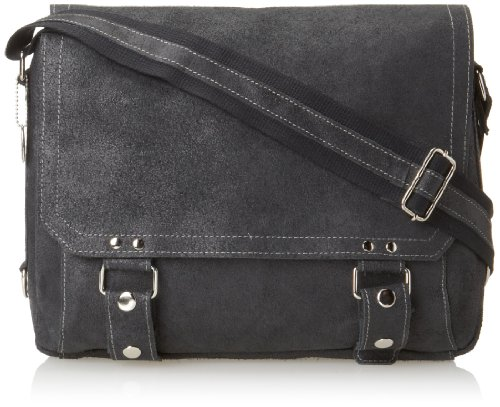David King & Co. East West Messenger Distressed, Black, One Size