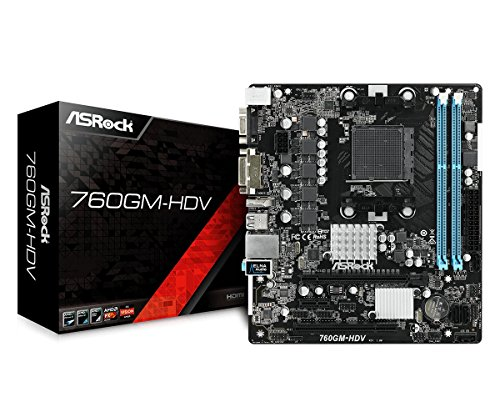 ASRock 760GM-HDV Socket AM3+/AM3/ AMD 760G/ DDR3/ SATA2&USB2.0/ A&V&GbE/MicroATX Motherboard