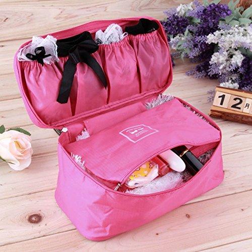 Generic Sky Blau: 1Stück BH Unterwäsche Dessous Reisetasche für Gepäck reisen Organizer Trip Damen Handtasche Tasche Koffer Space Saver Tasche