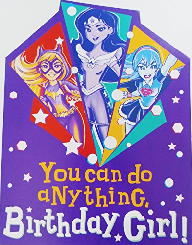 You Can Do Anything Birthday Girl! DC Comics Greeting Card -