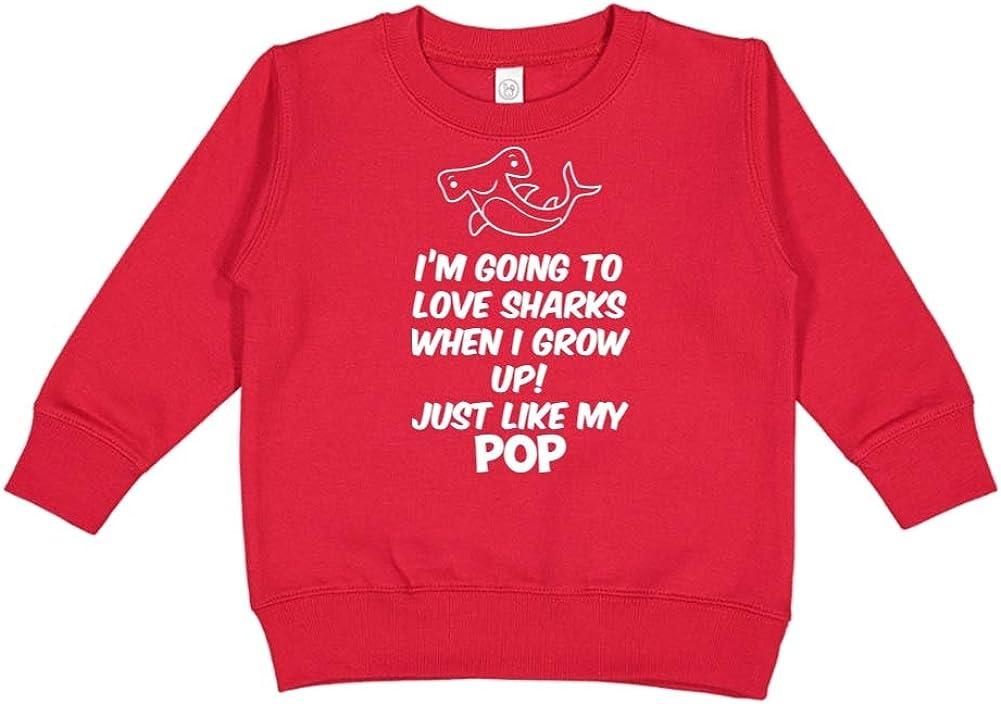 Toddler//Kids Sweatshirt Im Going to Love Sharks When I Grow Up Just Like My Pop