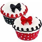Wilton 710-2217 Icing Decoration, Royal Polka Dot Bows