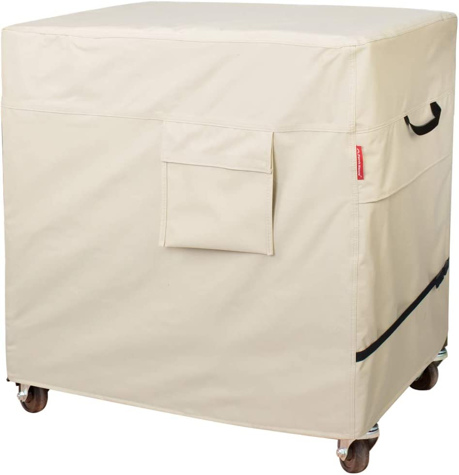 Porch Shield Waterproof 80 Qt Rolling Cooler Cart Cover Fits Most Patio Ice Chest Party Cooler Upto 34L x 20W x 32H inch