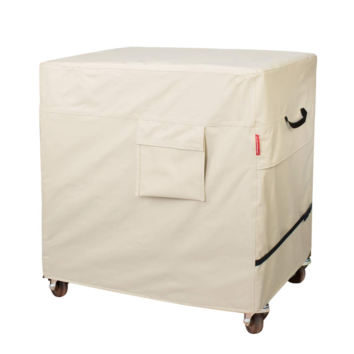 Porch Shield 100% Waterproof & Dust-Resistant 80-100 Qt Rolling Cooler Cart Cover Fits Most Patio Ice Chest Party Cooler Upto 43L x 22W x 32H inch