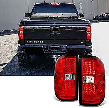 [DHAV_9290]  Amazon.com: For 2014 2015-2018 Chevy Silverado | GMC Sierra Left + Right  Red Replacement LED Tail Lights Tail Lamps Pair: Automotive | 2008 Gmc Sierra Tail Light Wiring |  | Amazon.com
