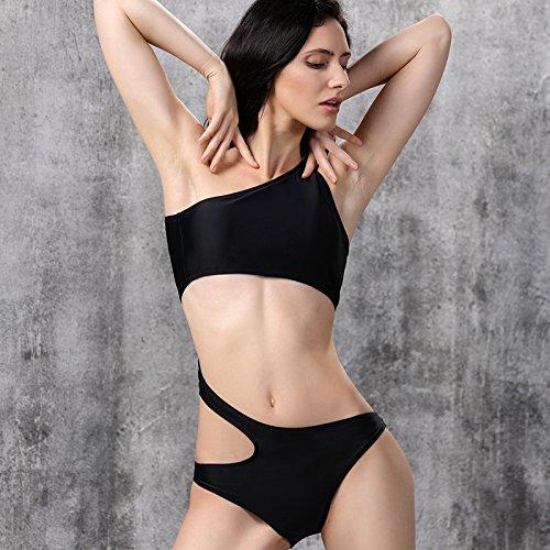 RF Bikini Im westlichen Stil - Schwarz Schulter Frau Badeanzug