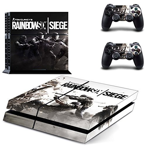MightyStickers - Tom Clancy's Rainbow Six Siege War PS4 Wrap Skin Game Console + 2 Controller Decal Vinyl Protective Covers Stickers Sony PlayStation 4 (Best Rainbow Six Siege Skins)