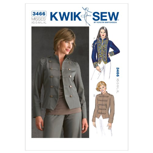 Kwik Sew K3466 Jackets Sewing Pattern, Size Misses XS-S-M-L-XL