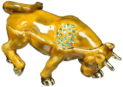 Cristiani Collezione Crystal Jeweled Bull Trinket Box