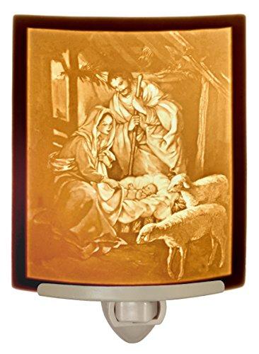 Nativity - Curved Porcelain Lithophane Night Light - Lithophane Night Light