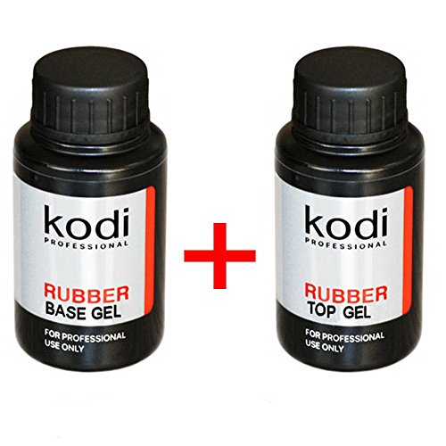 Kodi Professional Rubber Base + Rubber Top 30 ml. 1.06 oz 2pcs. Nail Polish Coat Soak Off Gel Polish Led UV