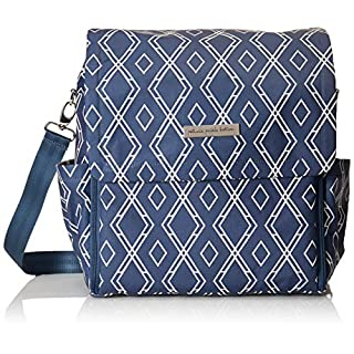 Petunia Pickle Bottom - Glazed Boxy Diaper Bag Backpack for the modern parent - Baby changing mat & station - Pockets to keep you organized - Multiple carrying options - cross-body/shoulder - Indigo