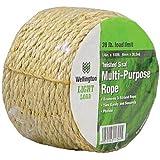 Wellington Cordage 11345 1/4-Inch X 100-Feet Natural Fiber Twisted Sisal Strand Rope / Twine