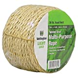 Wellington Cordage 11345 1/4-Inch X 100-Feet Natural Fiber Twisted Sisal Strand Rope / Twine