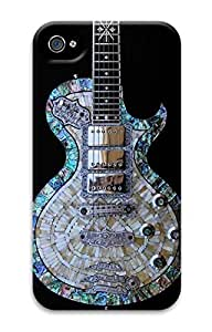 3D PC Back Case Cover for iPhone 4 DIY Custom Hard Shell Skin for iPhone 4 With Guitar wangjiang maoyi