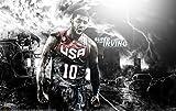 "Cartoon world W3859 24"" x38 Kyrie Irving Basketball Nba Sportsman Poster photo printing on canvas"