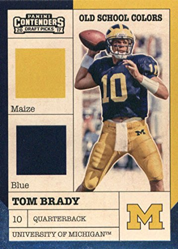 2017 Panini Contenders Draft Picks Old School Colors #20 Tom Brady Michigan Wolverines Football Card