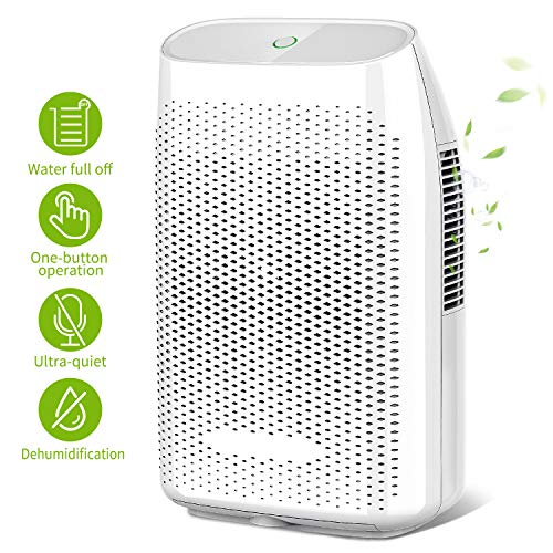 Honati Home Dehumidifier, 2000ml Ultra Quiet Small Portable Dehumidifiers with Auto Shut Off for Basement, Bedroom, Bathroom, Baby Room, RV and Office (Up To 269 Sq.Ft)