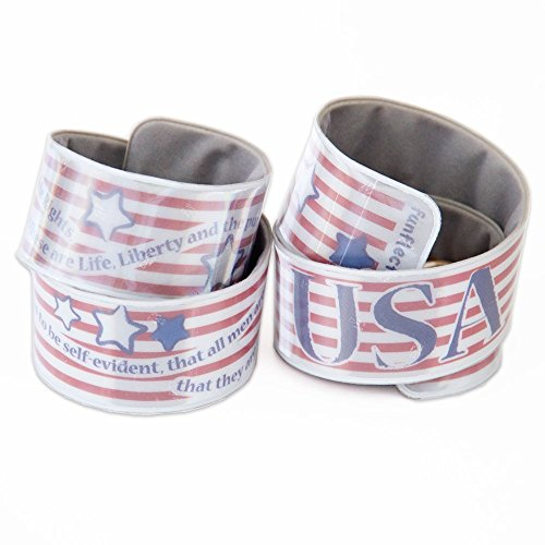 funflector Reflective Slap Bracelet - Stars & Stripes - Duo-Pack