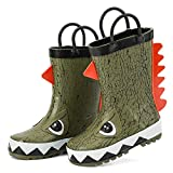 ALEADER Kids Waterproof Rubber Rain Boots for Girls, Boys & Toddlers with Fun