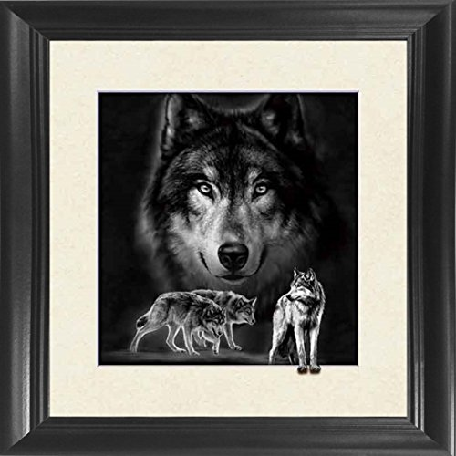 Framed Wolf Pictures (Wolf Framed 18.5x18.5