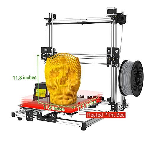 "Crazy3DPrint CZ-300 DIY 3D Printer (11.8"" x 11.8"" x 11.8"" Built Size, PETG/PLA/ABS/Carbon Fiber PLA/Metallic PLA, Heated Print Bed) Certified Power Supply"