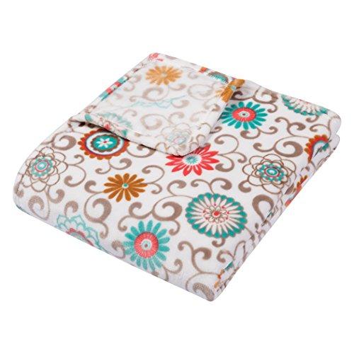 Trend Lab Plush Multi Waverly Throw Blanket, Pom Pom ()