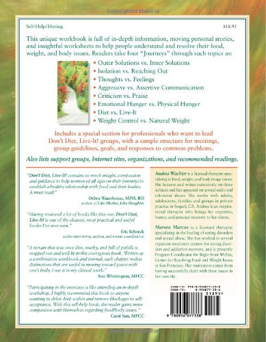 The Don't Diet, Live-It! Workbook: Healing Food, Weight and Body ...