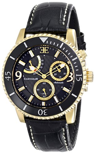 Thomas Earnshaw Men's ES-8008-04 Admiral Automatic Self Wind Black Watch