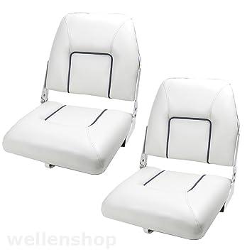 2 x barco piloto asiento plegable silla de asiento de cuero ...