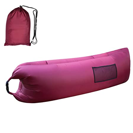 Quarice®Tumbona Hinchable Hamaca Sofá para Playa Camping Jardín Impermeable (Violeta)
