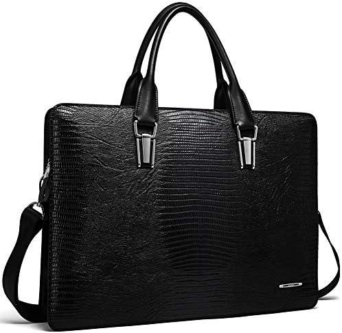 Leather Briefcases Vintage Business Shoulder