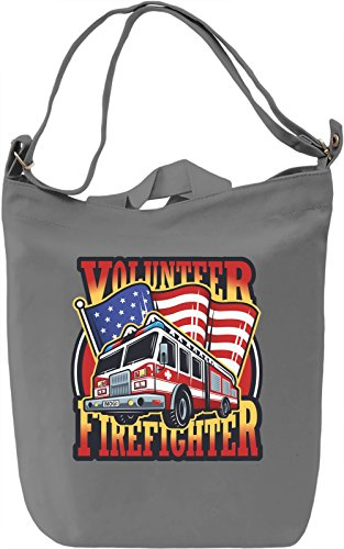 Volunteer firefighter Borsa Giornaliera Canvas Canvas Day Bag| 100% Premium Cotton Canvas| DTG Printing|