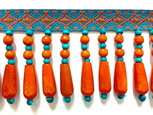 2-wood-beaded-fringe-trim-orange-tf-61-1-30-44-sold-by-the-yard