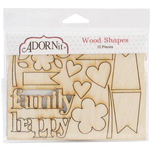 Adorn-It AFP33535 Family Patchwork Wood Shape
