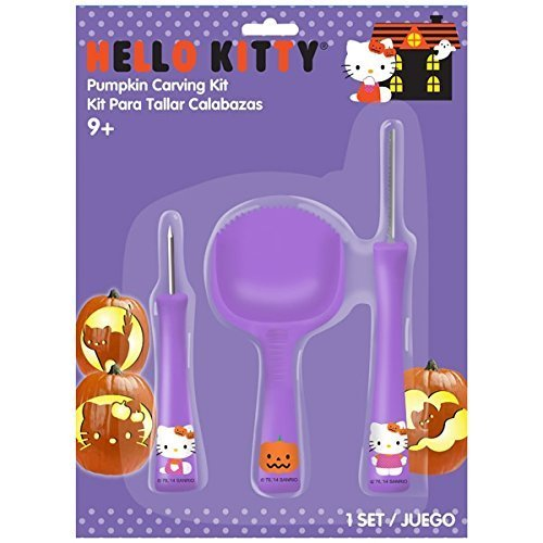 Hello Kitty Pumpkin Carving (Hello Kitty Pumpkin Carving Kit - Tools & Patterns by Gemmy)