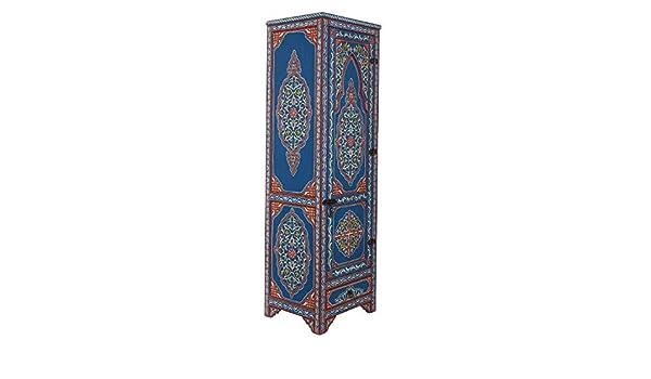 Casa Moro | Armario ropero oriental (200 x 60 x 50 cm, pintado a mano, madera maciza, artesanía de Marrakesch, estilo marroquí, estilo vintage) | MO4202: Amazon.es: Juguetes y juegos
