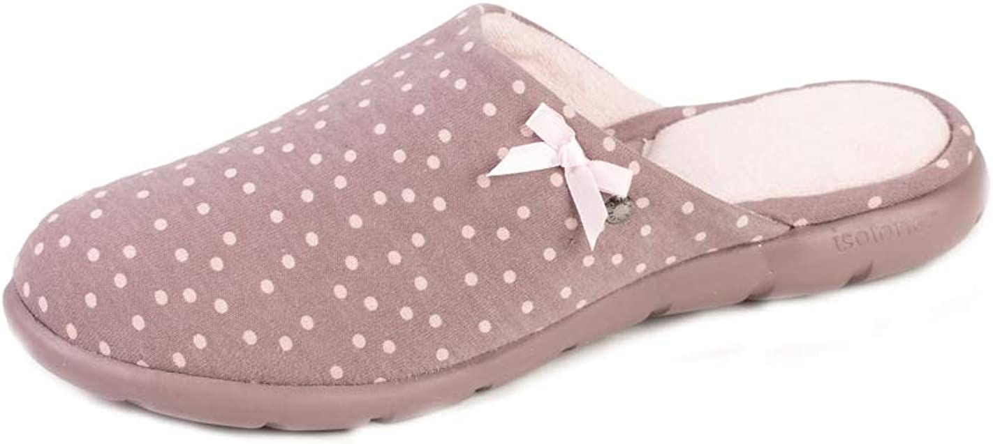 Isotoner - Zapatillas para mujer, diseño de lunares