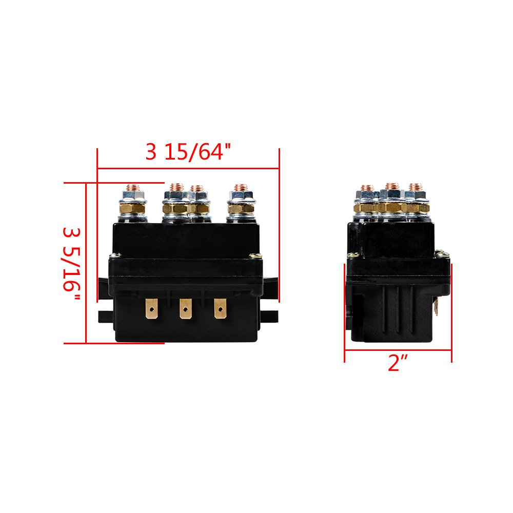 Amazon.com: 12V 500A Winch Solenoid Contactor Relay Replacement ...