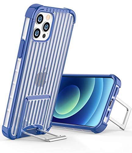 OCYCLONE [Suitcase Series] Shockproof Case with Stand Compatible for iPhone 12 Pro Max