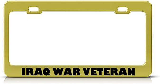 Iraq War Veteran License Plate Frame Tag Holder