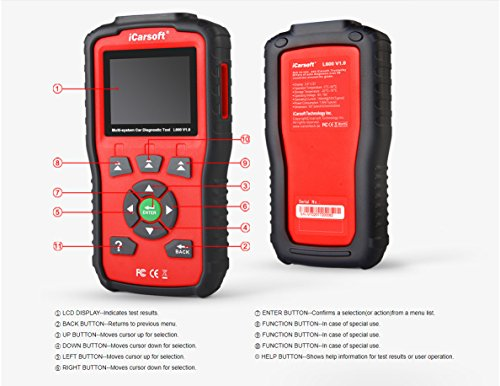 iCarsoft Auto Diagnostic Scanner L600 V1.0 for Landrover and Jaguar with ABS Scan,Oil Reset etc by iCarsoft (Image #6)