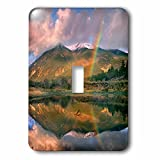 3dRose (lsp_259141_1) Single Toggle Switch (1) Rainbow Over Twin Lakes and Sawatch Range, Colorado, USA