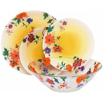 luminarc stylish french 19pc dinnerware set dinnerware sets. Black Bedroom Furniture Sets. Home Design Ideas