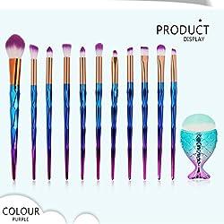 LiPing 12PCS Colorful Soft Brush Comfortable Grip Makeup Brush Premium Foundation Brush Tool Eyeliner Lip Cosmetic Brush Eyeshadow Brush (C)