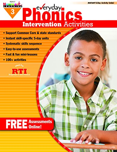 - Newmark Learning Grade 3 Everyday Intervention Activities Aid for Phonics