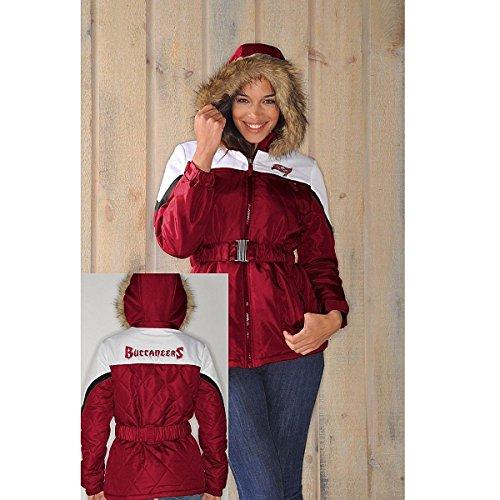 NFL Womens The Looker Jacket with Faux Fur Trim Hood - Bucs - - Bay Fair Mall