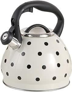 Hervidor de estufa con silbido seguro de inducción de 3.0 litros, hervidor de silbido estilo retro - Adecuado para todos los tipos de placa/estufa, incluida la inducción,Teteras para fogón