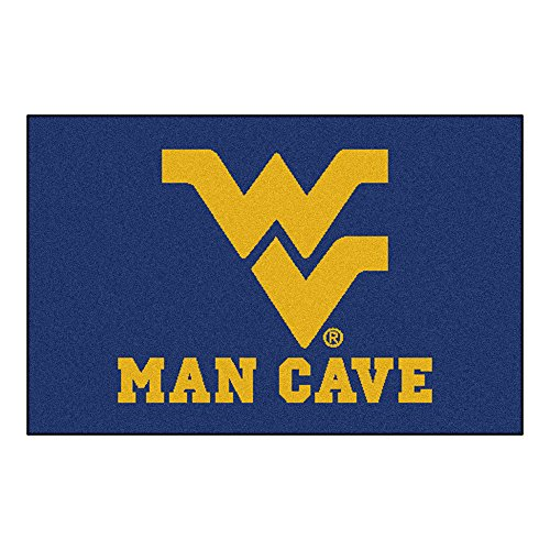 FANMATS 14720 West Virginia University Nylon Universal Man Cave Starter Rug