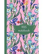 Iris Notebook: Pink cover
